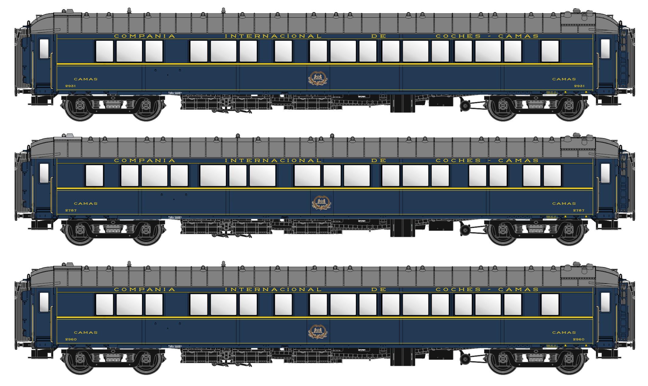 CIWL S2T & S3 sleeper coach set