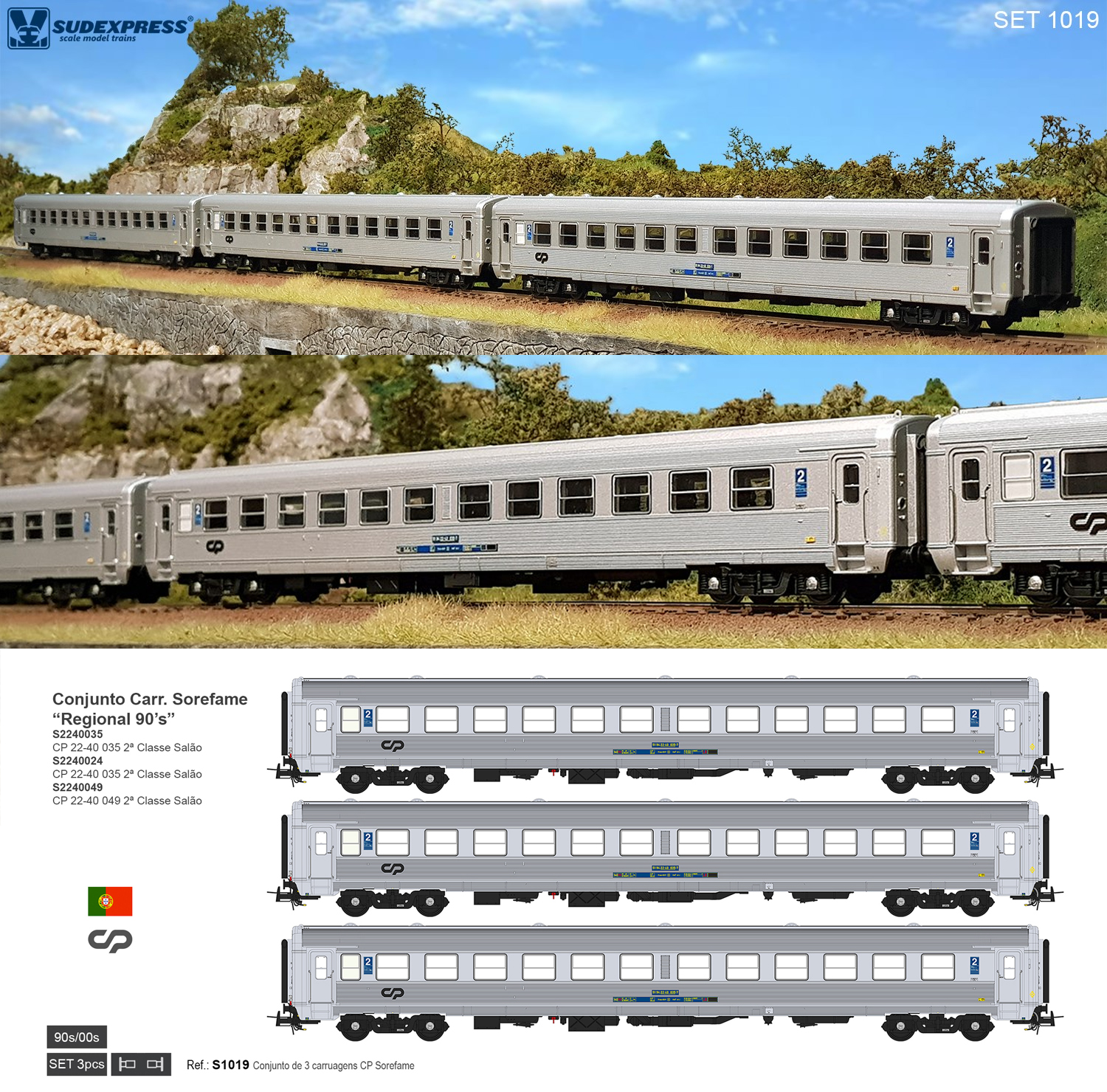 CP Sorefame Coaches: First delivery Set S1019